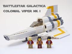 Battlestar Galactica Colonial Viper Mk I LEGO Model (LuisPG2015) Tags: bsg battlestargalactica galactica colonialviper viper lego