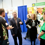 Deputy Lord Mayor meets Jason Gillard from Mercury Fitness NI on the Go For It Stand