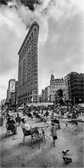 Chasing pigeons (beninfreo) Tags: newyork newyorkcity flatironbuilding usa blackandwhite bw mono monochrome city urban street streetphotography canon5dmarkiv rokinon14mm rokinon decisive