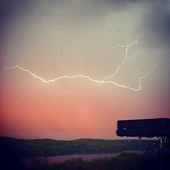 spirits (Donnah MacKinnon) Tags: sky lightening bbq colours storm thunder water pink purple landscape
