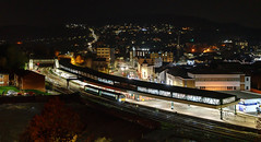 Pontypridd by night (Mark Gowing) Tags: 143609 class143 pontypridd pontypriddstation pontypriddbynight dmu transportforwales