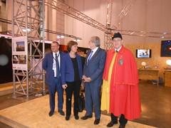 Visit on the stand Jean Romain (President Gd Conseil), Anne Emery-Torracinta (State Councillor), Nicolas Aune (President cité des métiers).