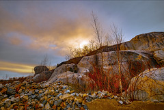 Winter sun (Photography by Lazlo) Tags: ifttt 500px winter sun clouds quarry stones trees rocks nature flickr