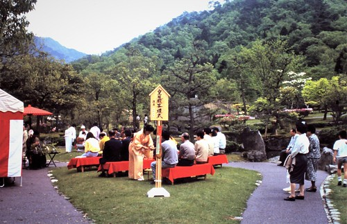 Formal tea service at park outside the city center
