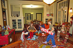 christmasmorn2018 (FAIRFIELDFAMILY) Tags: christmas 2018 jason taylor grant carson michelle winnsboro sc south carolina present presents family living room house interior arts crafts craftsman bungalow antique fireplace rug lego legos child boy young old children boys mother son fairfield county vintage tree morris chair oak mantle piece