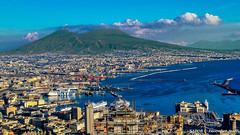 Naples, Italy: Port of Naples with Mount Vesuvius in the background (nabobswims) Tags: campania gulfofnaples hdr highdynamicrange ilce6000 it italia italy lightroom mirrorless mountvesuvius nabob nabobswims naples napoli photomatix sel18105g sonya6000 volcano itlay