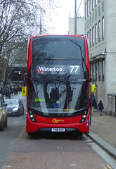 GAL EH306 - YX18KXU - CONCERT HALL APPROACH - SUN 30TH DEC 2018 (Bexleybus) Tags: waterloo bridge station york road stamford street imax roundabout museum approach goahead go ahead london adl dennis enviro 400 mmc hybrid tfl route 77 eh306 yx18kxu