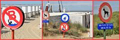 Sur la plage de Knokke, Belgium (claude lina) Tags: claudelina belgium belgique belgië knokke merdunord noordzee plage sable beach cabines panneaux