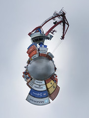 tiny cargo planet (ChristianMandel) Tags: tinyworld panorama hugin stereographicprojection bremen container crane hansakai maersk ilce7iii sonya7iii voigtländer15mmf45iii