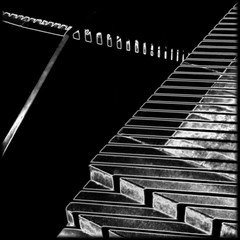 (⨀) Tags: theotherside universe 233 square diagonal stripes stairs lines shadows light cosmicstairs
