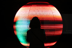 Glow Eindhoven 2018 (Elios.k) Tags: horizontal indoors people oneperson woman ball installation sphere led titiaex thewalk red warehouseofinnovation dark night light colour color travel travelling november 2018 glowfestival lightfestival lightart exhibition gloweindhoven2018 gloweindhoven glow2018 canon 5dmkiv photography eindhoven noordbrabant northbrabant netherlands nederland europe