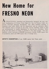 New Homefor FRESNO NEON Aug 64 (hmdavid) Tags: fresnoneon sign company fresno california headquarters 1964 1960s signsofthetimes magazine