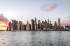 Dusk over NYC (DarrenCowley) Tags: nyc skyline horizon water manhattan city architecture empirestate worldtradecenter skyscrapers dusk
