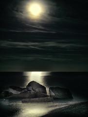Moonlight Sonata (Paul B0udreau) Tags: composite hfg photoshop canada ontario paulboudreauphotography niagara d5100 nikon nikond5100 raw layer hamilton lakeontario rocks water nikkor50mm18