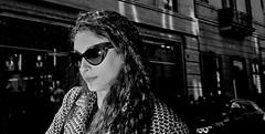 Digging for kryptonite on this one way street..... (Baz 120) Tags: candid candidstreet candidportrait city street streetphotography streetphoto streetcandid streetportrait strangers rome roma europe women monochrome monotone mono noiretblanc bw blackandwhite urban life portrait people italy italia grittystreetphotography flashstreetphotography faces decisivemoment