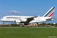 Air France Airbus A380-861  |  F-HPJE  |  LMML (Melvin Debono) Tags: air france airbus a380861 | fhpje lmml cn 052 respray aviation cosmetics malta melvin debono canon spotting plane planes photography airport airplane aircraft