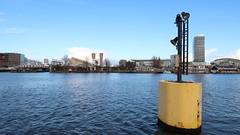 Oosterdok uitgang naar 't IJ (screenpunk) Tags: amsterdam oosterdok wolken water clouds haven port portofamsterdam