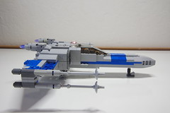 (Improved) Standard Resistance X-wing: Right View (Evrant) Tags: lego star wars custom x wing moc starfighter spaceship starship ship t70 t 70 resistance evrant