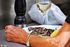 Just enjoying some oysters (Els Herten) Tags: people portrait oyster wine evere brussels city belgium