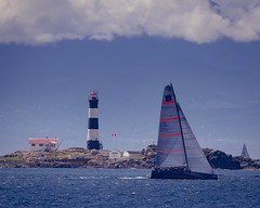 Glory passing Race Rocks (kevin.boyd) Tags: green sailboat ocean sea salish juan de fuca race rocks island canada victoria bc yacht sailing glory waves sky cloud pacific northwest