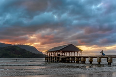 The End of the Day DSC_9556 (BlueberryAsh) Tags: hanalei hanaleibay kauai sunset sky cloudsstormssunsetssunrises clouds jetty pier oldjetty oldpier water ocean surfer hawaii evening eveningglow outdoors
