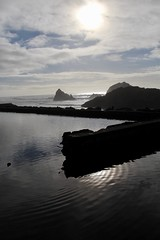 The reflection of Sutro baths (daveynin) Tags: landsend sanfrancisco nps ocean shore ruins abandoned sutrobaths coastline rocks seastack stack sun pacificocean