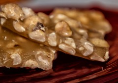2019-01-09 Home-made peanut brittle! (Mary Wardell) Tags: peanutbrittle candy peanuts ambercolored food holidays canon80d delicious yummy closeup