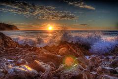 Sunset Splash (Michael F. Nyiri) Tags: sunset bluffcove palosverdesestates palosverdespeninsulacalifornia southerncalifornia pacificocean