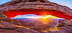 Mesa Arch (Pooja and Shijo Photography) Tags: glow sunburst sunrise canyonlandsnationalpark utah moab mesaarch