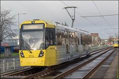 Metrolink 3119 (Mike McNiven) Tags: manchester metrolink tram metro lightrail lrv manchesterairport airport wythenshawe roundthorn martinscroft victoria marketstreet