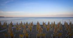 Summer Nostalgia (gcarmilla) Tags: beach spiaggia mare sea ombrelloni estate summer alba dawn
