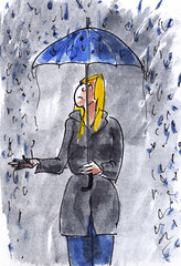 Van die dagen / days like this (h e r m a n) Tags: herman illustratie tekening drawing illustration dagboek diary journal mijnleven mylife regen rain paraplu umbrella meisjes meisje girl dagen days