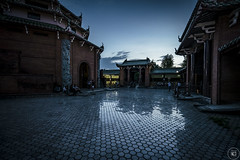 Nightfall (Through the Glass Studios) Tags: photography photo landscape landscapes landscapephotography landscapephoto building buildings person persons people asian asianarchitecture architecture architecturephotography architecturephoto temple temples dusk twilight night nighttime evening sony sonyalpha sonya7 sonya7ii adobe adobephotoshop adobelightroom photoshop lightroom vsco vscofilm