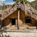 Maori reconstructed Pikirangi village (meeting house), Te Puia, Rotoura, NZ