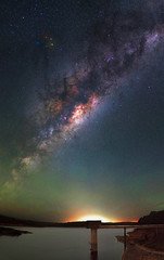Milky Way at South Dandalup Dam, Western Australia (inefekt69) Tags: south dandalup dam westernaustralia australia great rift panorama stitched ms ice landscape wide astrophotography astronomy stars galaxy milkyway galactic core space night nightphotography nikon 50mm hoya red intensifier d5500 dslr long exposure perth southern southernhemisphere cosmos cosmology outdoor sky reservoir catchment water msice ioptronskytracker tracked didymium christmas creek lake banksiadale milky way nikkor
