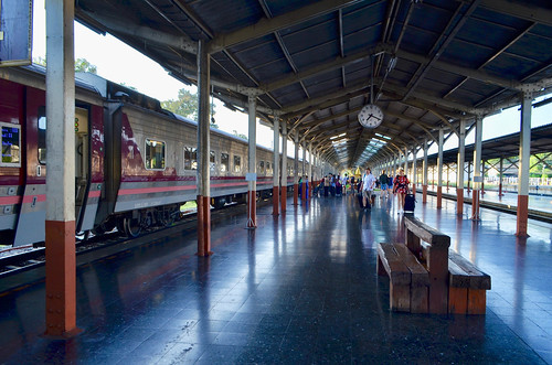 Early morning at Chiang Mai station, shortly after the arrival of the overnight train from Bangkok