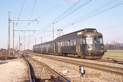 1979-03-08, CFF, Satigny (Fototak) Tags: eisenbahn train railway treno genève switzerland geneva sbbcffffs bde44ii 1302