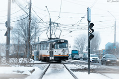 Icy Tatra (WT_fan06) Tags: tramcar tramway tatra t4r bucharest cityscape suburbs photography winter icy tracks lines nikon d3400 dslr cold white light exposure contrast old retro vintage 3412 focus 7dwf flickr coth5 day blue public transportation romania outside nikkor perspective sky portrait art snow sun landscape street urban city strassenbahn bukarest mood atmosphere railways railroads wires traffic angle december freezing frozen orange 35 aqua bleu decayed rusty sturdy