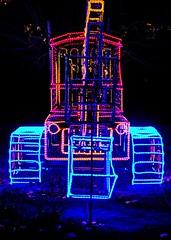 back hoe of lights (JoelDeluxe) Tags: rol riveroflights abq biopark nm december 2018 albuquerque biological park pnm light display colors lights sculptures fantasy newmexico hdr joeldeluxe