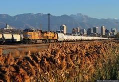 The Acid Train (jamesbelmont) Tags: acidtrain ogdeo sulphuricacid saltlakecity utah northyard ge es44ac unionpacific riotinto railway