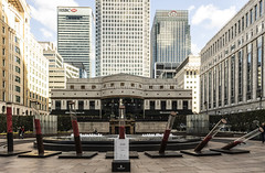Fallen Soldier (constructinglondon) Tags: canarywharf remembrance lestweforget art