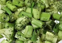 Macro Mondays - Green (Harry McGregor) Tags: macromondays green salad cucumber springonions parsley food meal
