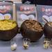 Pook - vegane Kokoschips in Kokosnussschalen zur Präsentation