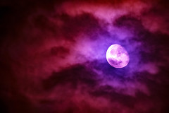 moody moon (stellagrimsdale) Tags: moon moody colours purple lilac slidingonsunday sliders sliderssunday sliding clouds angryclouds night nighttime nightshoot canon 100400mm 7d processed processing
