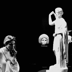 Thoughts crossing the mind_IMG_6565i (AchillWandering) Tags: art sculpture statue people woman lady thoughts mind athens greece ancient museum archaelogical national nationalarchaeologicalmuseum beauty indoor exhibition marble greek classical monochrome blackandwhite blackwhite bw blackbackground portrait surreal face