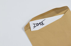 Open Envelope With Paper (focusonmore.com) Tags: black card cover cross email envelopes gray graybackground khakhi letter mail massage open paper post postage postal template text write