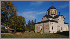St. Nicholas Princely Church (T.S.Photo (Teodor Sirbu)) Tags: church princely orthodox christian byzantine romania medieval building architecture valahia wallachia light autumn foliage trees courtyard curtea de argeș daylight sunny digital olympus omd em10mk2 leica summilux 15mm f17 1517 mft
