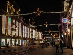 Holiday Lights Greeted us in Amsterdam (Lake Effect) Tags: 2018 amsterdam europe november defijenkorf departmentstore holiday lights luxury