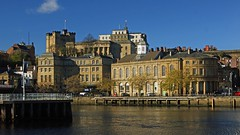 The old town of Newcastle (WISEBUYS21) Tags: river tyne newcastleupontyne guild hall castle keep bridge hotel vermont swing high level wisebuys21 sambuccas quayside quay reflections reflection bluesky cityscape faves