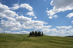 san quirico d'orcia (Roberto.Trombetta) Tags: italy italia road path siena val dorcia orcia valley san quirico landscape paesaggio country campagna farmer panorama long black hair cypress cipresso hat tourist turista sony 7rii zeiss carlzeiss sony7rii batis 25 amazing view beautiful wonderful stunning fineart fine art summer estate batis225 7rm2 allaperto montalcino clouds toscana tuscany campo